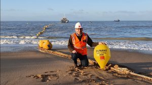 Google's transatlantic cable laid on the French coast